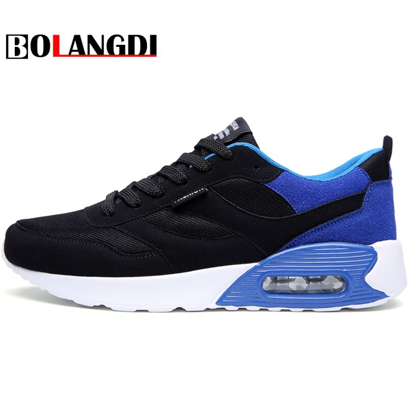 Bolangdi New Men Running Shoes For Men Lightweight Laces Sneakers Walking Shoes Air Cushion Male Jogging Footwear Sports Shoes