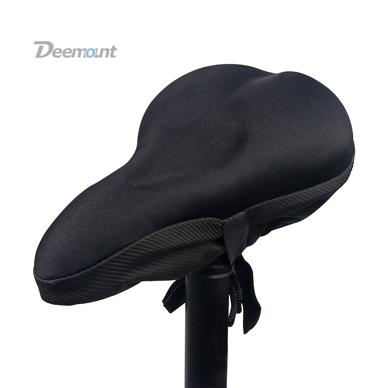 Deemount Silicone Gel Cushion Bicycle Riding Saddle Cover Soft Comfy Butt Pad Mattress Cycling Shock Absorption