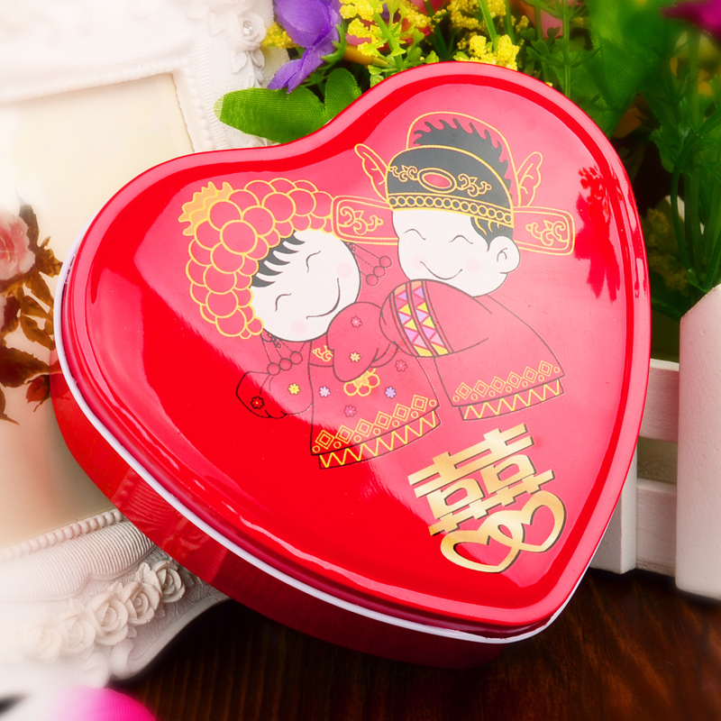 Traditional Chinese Wedding Gifts: Traditional Chinese Wedding Gift Box Mini Tin Candy