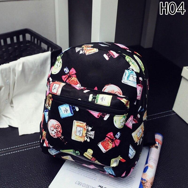 Floral Printing Leather Backpack Fashion Women Mochila Feminina School Bags For Teenage Girls Small Backpacks Lady Travel