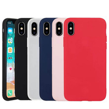 2019 Luxury Soft Back Matte Color Cases for iPhone 7 plus 8 6 6s X XS max XR 5 5s 5E Case Shockproof TPU Silicon Cover Capa