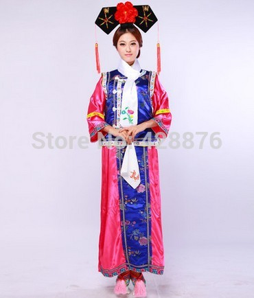 ZZB098 Big bust Size 112 cm Chinese Qing dynasty outfit dance costumes The imperial concubine Costume chinese queen costume
