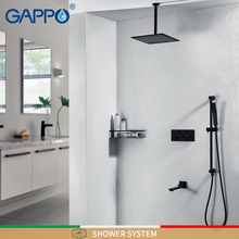 GAPPO смеситель для душа s черный смеситель для душа, водоспад наборы ухода за кожей настенный смеситель для душа в форме дождя смеситель смесители ванны