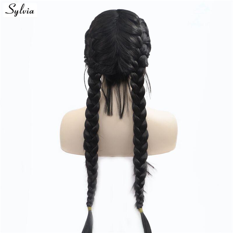 Sylvia Natural 1B Μαύρο 2x Περιστρεφόμενη - Συνθετικά μαλλιά - Φωτογραφία 2