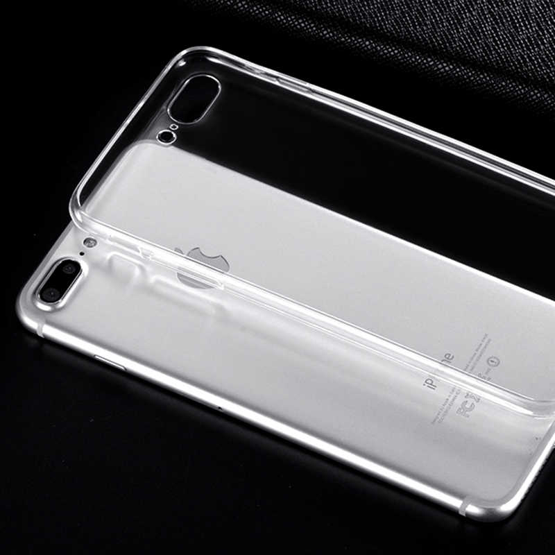 Clear Silicon Ultra Dunne Soft TPU Voor 7 7 Plus 8 8 Plus X Transparante Telefoon Case Voor iPhone 5 5 s SE 6 6 s 6 Plus 6 sPlus