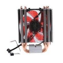 Красный 4 теплотрубки 12 V 130 W Процессор кулер 3-контактный вентилятор радиатора для Intel LGA2011/LGA1366/LGA1156 AMD AM3 +/AM3/AM2 +/AM2 вентиляторы и охлаждение