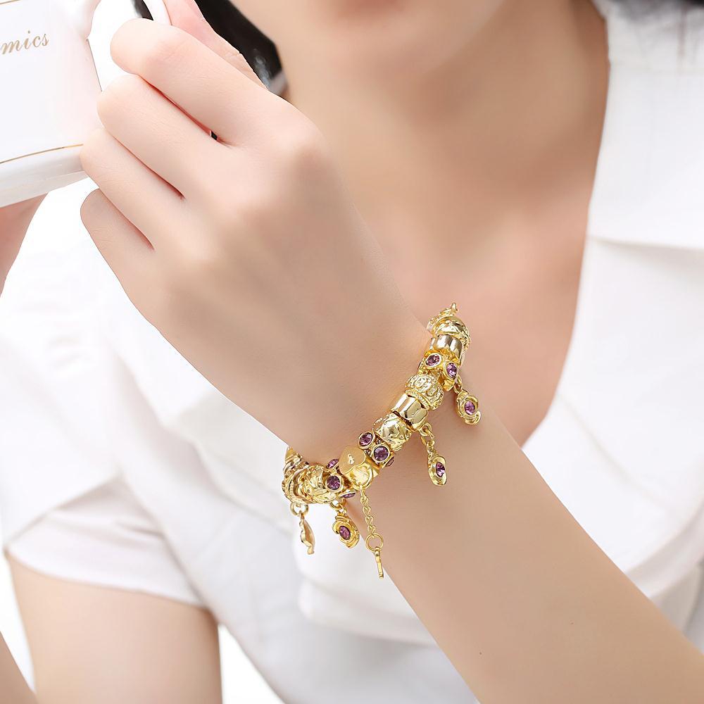 Pandora gold murano glass beads