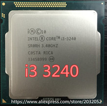 Lntel I3-3240 i3 3240 CPU 3.4 GHz 3M LGA1155 55W pulpit dwurdzeniowy SR0RH CPU (działa W 100% darmowa wysyłka)