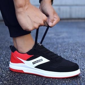 Image 5 - אנאנ גברים נעליים יומיומיות אביב סתיו לנשימה Mens דירות נעלי Zapatillas Hombre אופנה זכר כחול אדום אפור גודל 7  10.5