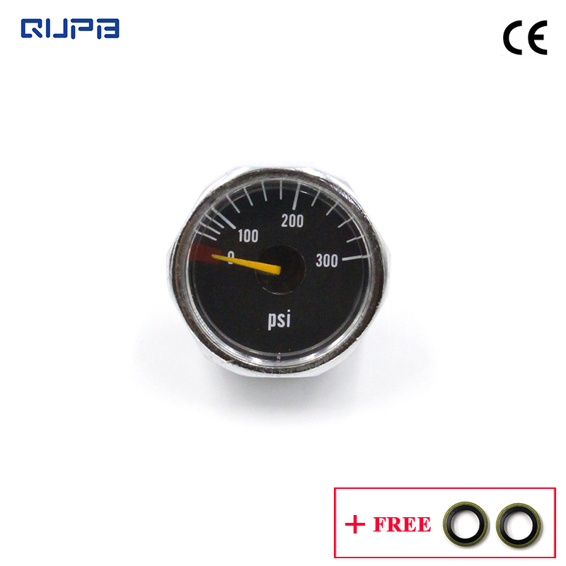QUPB Low Pressure 24.5 Mm Gauge 300psi For Paintball Marker Regulators 1/8NPT GES002