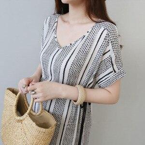 Image 5 - Vestidos de algodón para embarazo Vestidos impresos Vestidos de maternidad para mujeres embarazadas ropa de maternidad Vestidos de verano ropa