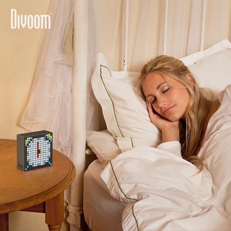 Nieuwe Divoom TIMEBOX EVO Bluetooth Draadloze Speaker Pixel Smart multifunctionele Audio wekker voice memo Ondersteuning APP gift - 6