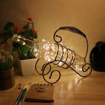 Romantic led night light retro wine bottle night light for living room decorative
