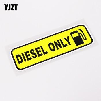 YJZT, 13,7 CM x 4,3 CM, etiqueta adhesiva gráfica solo a la moda para coche diésel, accesorios de decoración de PVC, 13-0241