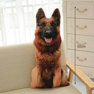 Image 3 - CAMMITEVER 50 см Милая имитация собаки плюшевая игрушка 3D печать Мягкое Животное фотография диван игрушки Подушка для сна