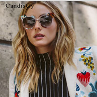 2016 New Super Star High Quality Mirror Rose Gold Sunglasses Vintage Women Brand Design Female Shade Cateye Sun Glasses