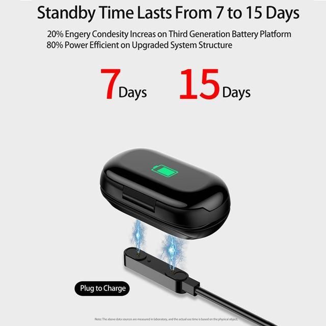 Keoker Fashion  M1 Smart Watch Men With Bluetooth Headphone Heart Rate Monitor Smart Wristband Sport Tracker For Men Women