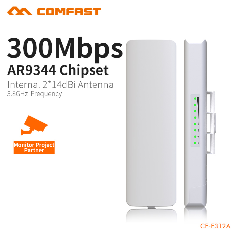 COMFAST Wireless Bridge 2-5KM Without Obstacles Transport 300Mbps 5.8G Built In Watchdog Wifi Extend For Monitoring CF-E312A transport phenomena in porous media iii