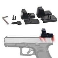 Chegada rápida de Ações DOS EUA Mini RMR Red Dot Visão laser Colimador Riflex Glock Âmbito Para A Caça Airsoft fit 20mm Tecelão rail RL5-0004-2