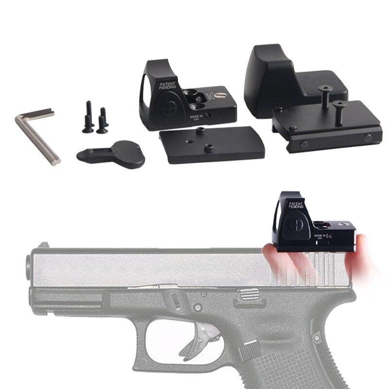 Arrivée rapide Stock américain Mini RMR point rouge collimateur Glock Riflex portée pour la chasse Airsoft fit 20mm tisserand Rail RL5-0004-2