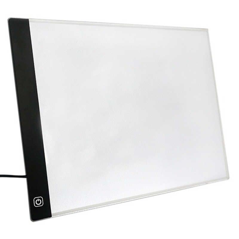 Затемнение Цифровой Планшет А4 Led Рисование Pad световая коробка калькирование, копирование доска графическое искусство живопись настольная панель