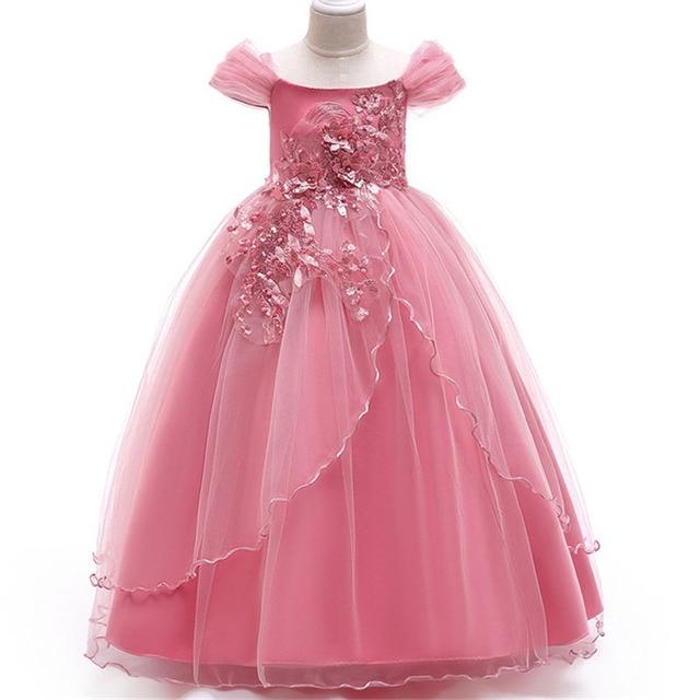 seleccione para mejor pulcro disfruta de precio barato Vestidos largos formales de fiesta boda para niñas vestidos princesa 5 14  años