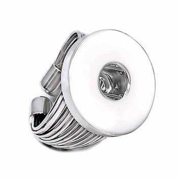 Regolabile 015 di fiori FAI DA TE in metallo anello Regolabile in forma di zenzero 18 millimetri con bottone a pressione squilla i monili anelli di fascino per le donne