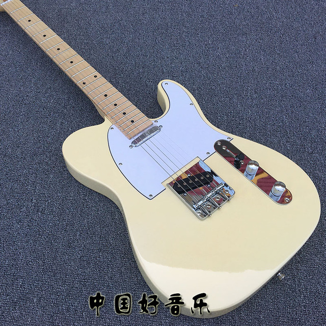 Milk Yellow TL 22 Frets Electric Guitar, Maple Neck, After The ...