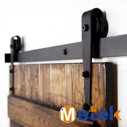 6.6 FT Cast Iron Industrial Sliding Door Tracks Door Track Hardware