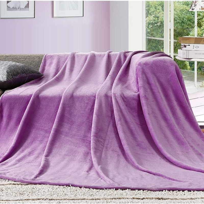 Chegada nova Folha de Cama Cama Cobertor Macio Quente Elegante Sólida Fleece Flanela Colcha Sofá Sofá Ar Condicionado Cobertor Lance