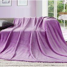 New Arrival Bed Blanket Soft Warm Bedding Sheet Elegant Solid Fleece Flannel Bedspread Sofa Air Couch Condition Throw Blanket(China)