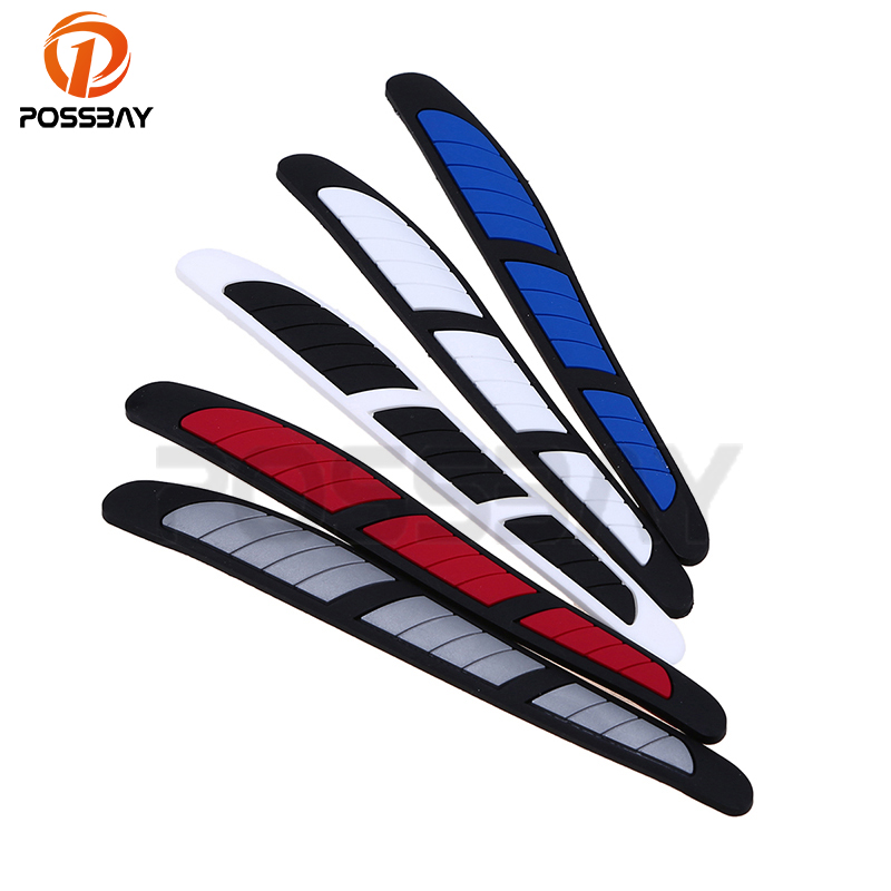 POSSBAY Universal Car Door Rubber Edge Anti-collision Strip Guard Scratches Protection Decorative Sticker Decal Car Styling yi 221 door guard protector decorative sticker for auto car white 4 pcs