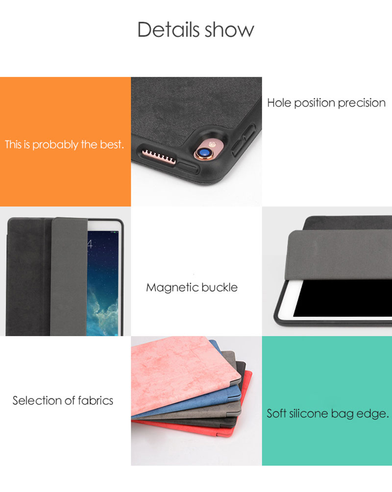Ipad Pro 12.9 Case with Pencil Holder Smart Flip Case 12