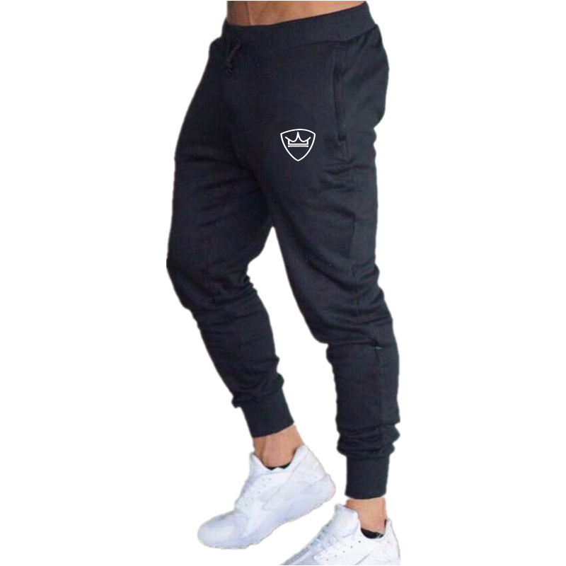 2019 New Men Joggers Brand Male Trousers Casual Pants Sweatpants Jogger Dark Grey Casual Elastic Cotton GYMS Fitness Workout Pan