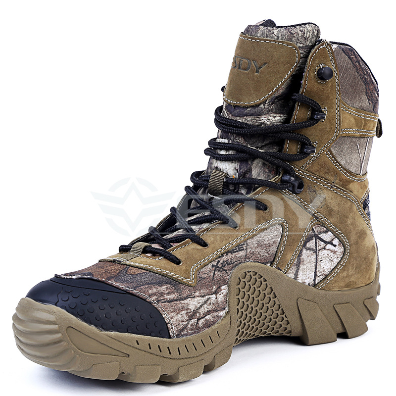 Genuine Leather Esdy Autumn Winter Camouflage Outdoor Climbing Hiking Tactical Boot Military Combat Army Men s Ankle Boots Shoes настольная лампа ideal lux elica tl1 small 014593