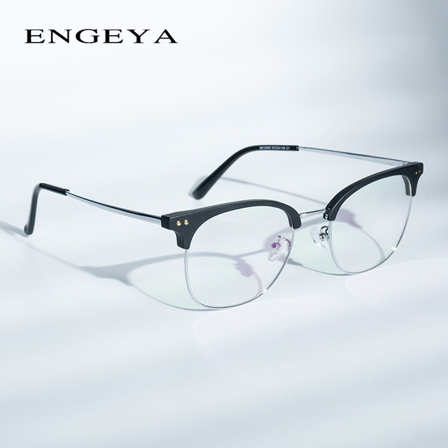 593a79ae90 Men Clear Glasses Frame Glasses Round Women Fashion Optical Spectacles  Computer Transparent Eyeglasses Frame Male
