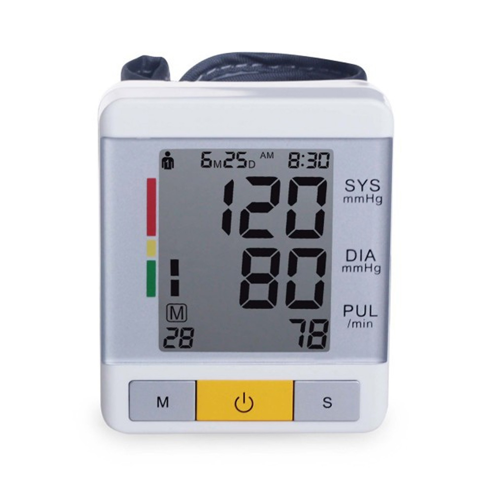 Lyncmed  LCD Wrist Type  Electronic Sphygmomanometer Automatic Power Off  Household   Electronic Blood Pressure Monitor high quantity medicine detection type blood and marrow test slides