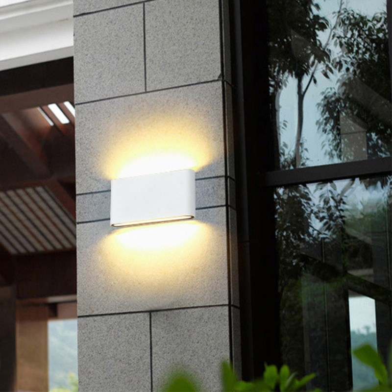Image 5 - LED Outdoor Wall Lamp 6W 12W Porch Light Sconce Corridor Decoration Lamp Waterproof Garden Path Landscape Lighting 110V 220V-in LED Outdoor Wall Lamps from Lights & Lighting