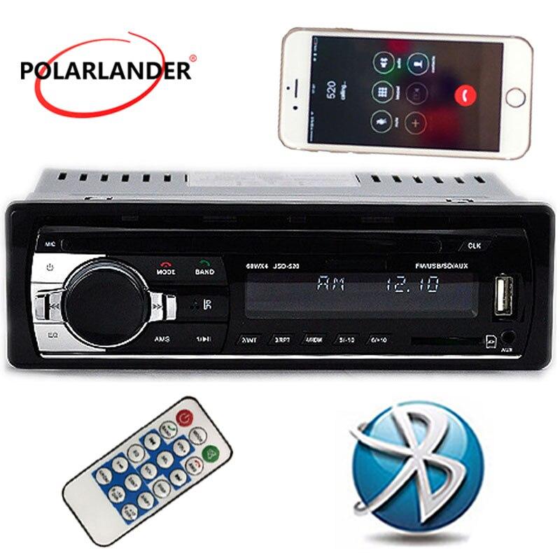 Nouveau 12 v Voiture audio FM de voiture Radio bluetooth MP3 Lecteur Audio Bluetooth téléphone portable mains libres USB/SD MMC Port autoradio Au Tableau de Bord un DIN