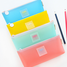 Freel shipping simple large capacity pencil bag small fresh student stationary bag