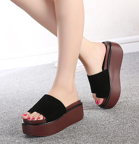 Summer Women Slippers High Heel Platform Strappy Girl Casual Sandals Shoes