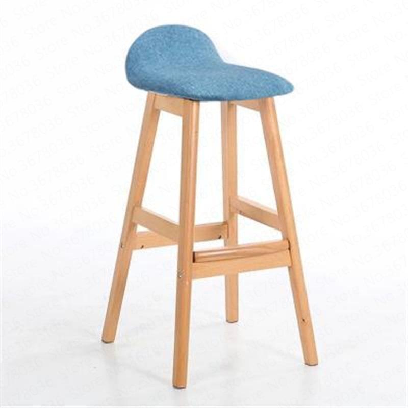 Solid Wood American Loft Bar Chair High Nordic Coffee Shop Creative Retro Simple Bar Stool Formal Dinning Chairs Counter