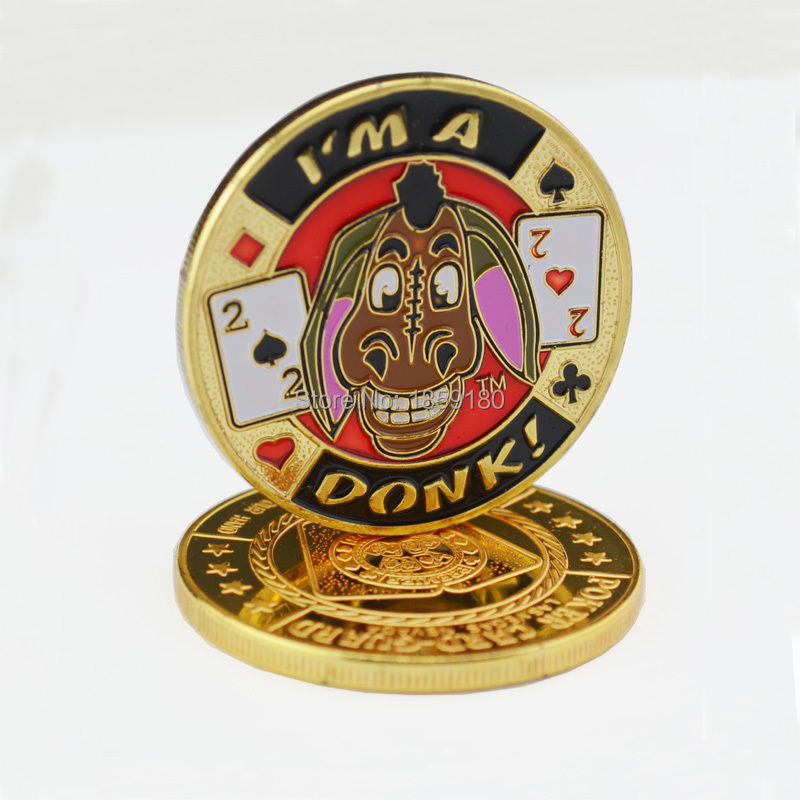 Free shipping 20pcs/lot,Las Vegas Im A Donk - Gold Poker Card Guard Coin - Protects The  ...