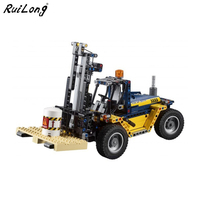 New 2 in 1 Technic Series Forklift Truck Compatible Legoing Technic 42079 Car Set Building Blocks Bricks Toys Christmas Gifts