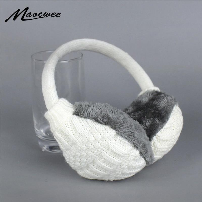 2017 Winter Warm Earmuffs Knitted Children Ear Muffs For Boy Earmuffs For Girls Baby Gift Ear Warmers