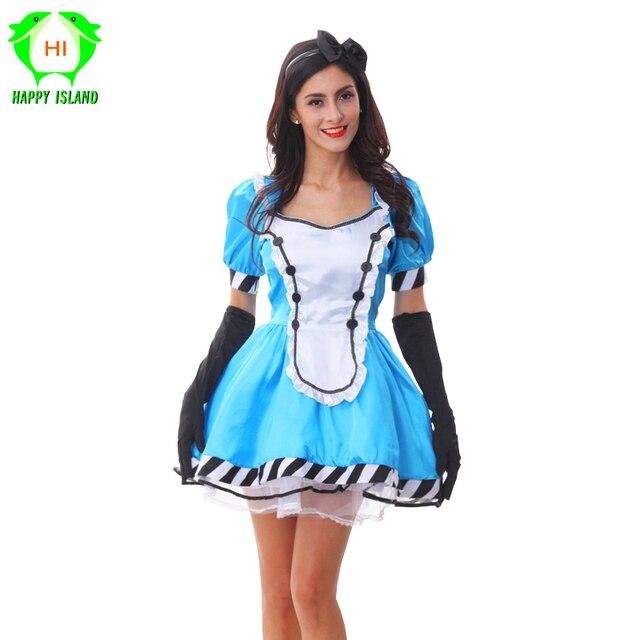 online retailer 14822 f8752 US $20.99 35% di SCONTO|2019 I Più Nuovi Alice Cosplay Abiti Fantasia  Meraviglie Lolita Cameriera Costume Fiaba Princess Dress Up Cosplay Gioco  ...