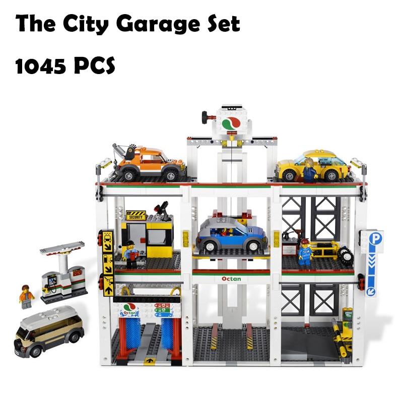 Model Building Blocks Toys 02073 1045pcs City Garage Set Compatible