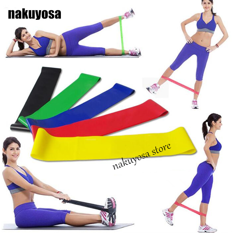 Workout Bands Com: 2pcs 500*50*0.35mm Yoga Pilates Resistance Band Exercise