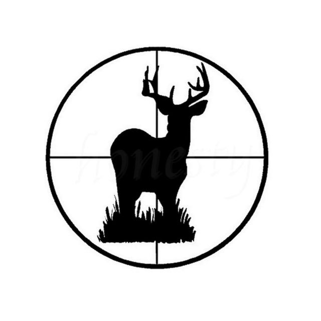Creative car body decals deer buck scope target vinyl hunting wall home glass window door car