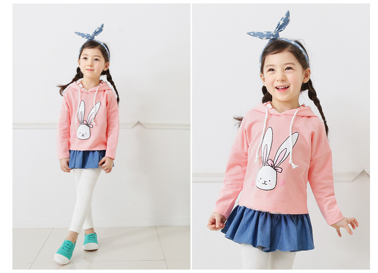 baby girl cartoon rabbit printed hoodies sweatshirt children clothing (1)